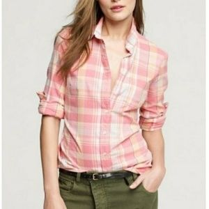 J.crew Perfect Shirt in Pink Plaid (Q14)